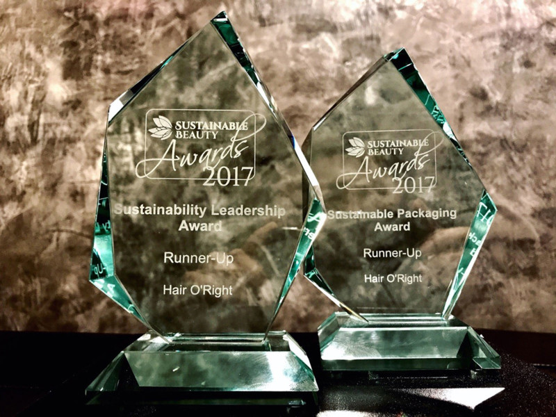 O'Right ontvangt Sustainable Beauty Awards