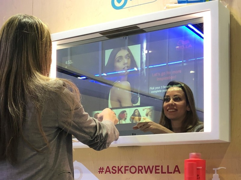 Wella Professionals Augmented Reality Smart Mirror